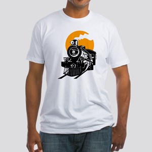 Steam Locomotive Train T-Shirt Fitted T-Shirt
