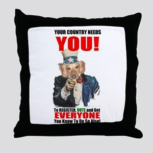 Uncle Sam Vote Throw Pillow