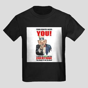 Uncle Sam Vote Kids Dark T-Shirt
