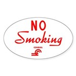 Conrail No Smoking Oval Sticker (10 pk)