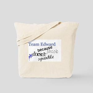 Team Edward B/C Jacob Doesn't Tote Bag