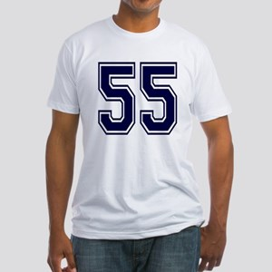 NUMBER 55 FRONT Fitted T-Shirt
