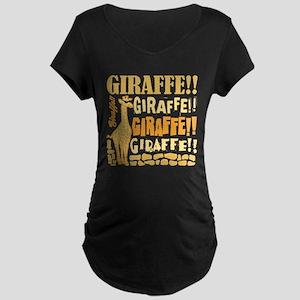 Giraffe!! Maternity Dark T-Shirt