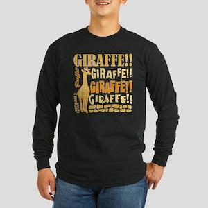 Giraffe!! Long Sleeve Dark T-Shirt