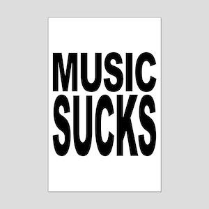 Music Sucks Mini Poster Print