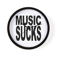 Music Sucks Wall Clock