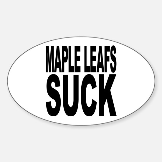 Maple Leafs Suck Oval Decal