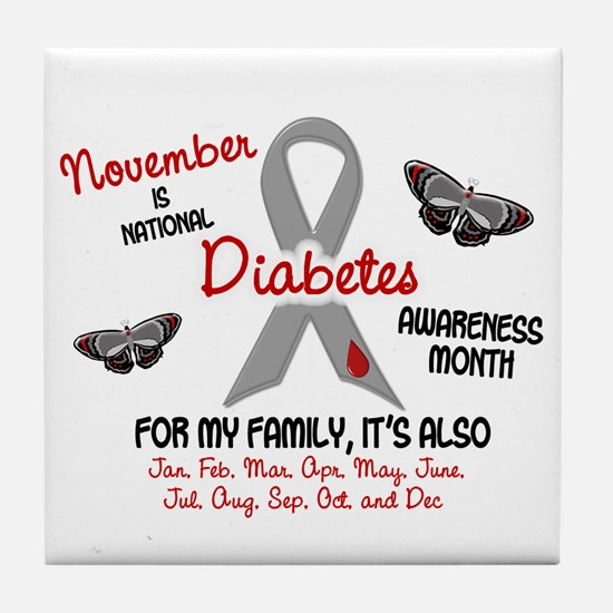 Diabetes Awareness Month 2.2 Tile Coaster