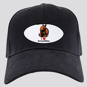 I Love Armadillos Black Cap
