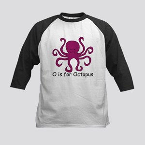O is for Octopus Kids Baseball Jersey