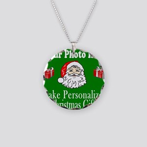 Make Personalized Christmas Necklace Circle Charm
