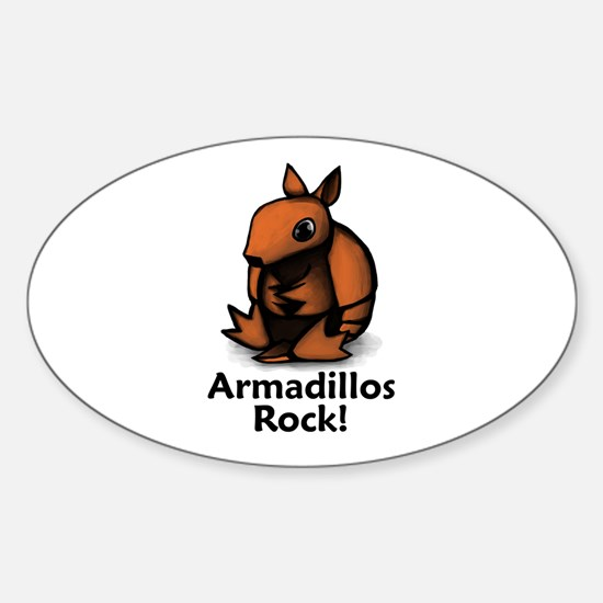 Armadillos Rock! Oval Decal