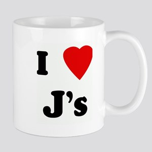 I Love J's Mug
