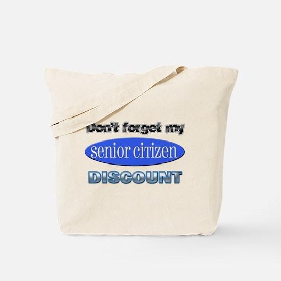 Senior Citizen Discount Tote Bag
