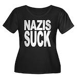 Nazis Suck Women's Plus Size Scoop Neck Dark T-Shi