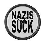 Nazis Suck Large Wall Clock