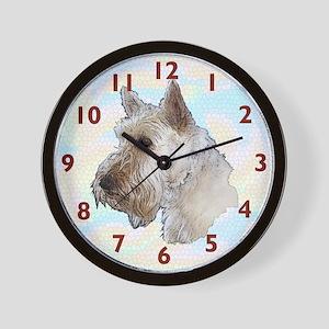 Scottish Terrier (Wheaten) Wall Clock