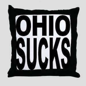 Ohio Sucks Throw Pillow