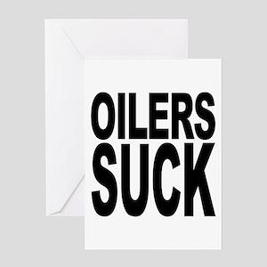 Oilers Suck Greeting Card