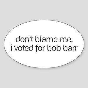 Bob Barr Oval Sticker
