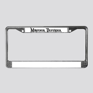 Minotaur Defender License Plate Frame
