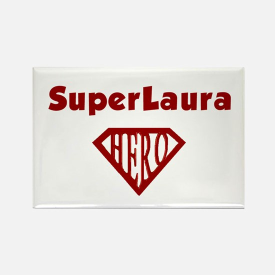 Super Hero Laura Rectangle Magnet