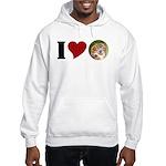 I Love Owls Hooded Sweatshirt (no logo)