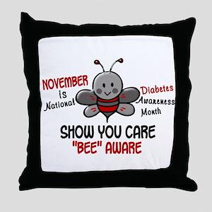 Diabetes Awareness Month 4.1 Throw Pillow