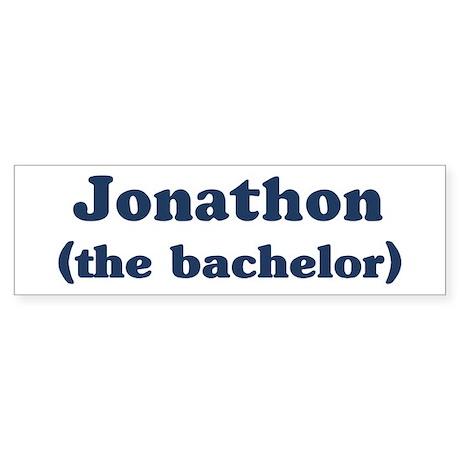 Jonathon the bachelor Bumper Sticker