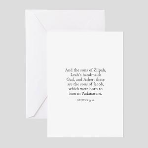 GENESIS  35:26 Greeting Cards (Pk of 10)