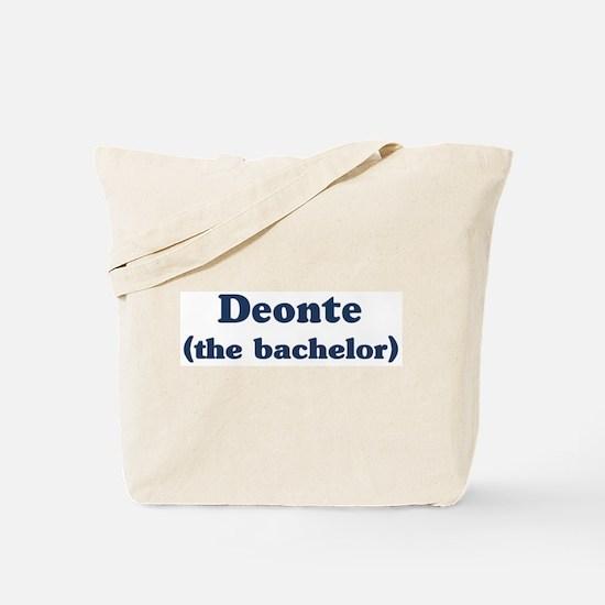 Deonte the bachelor Tote Bag