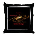 Idiotic Design Throw Pillow