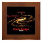 Idiotic Design Framed Tile