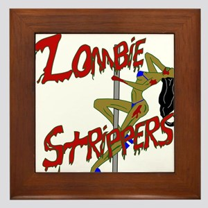 Zombie Strippers Framed Tile