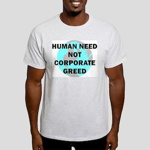 Koy's Logo + Human Need Ash Grey T-Shirt