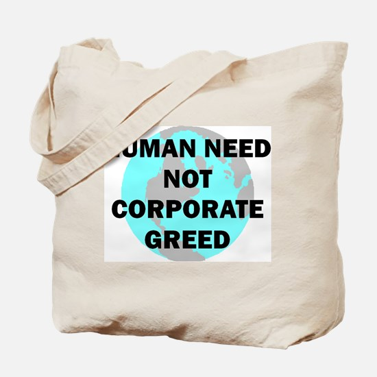 Koy's Logo + Human Need Tote Bag