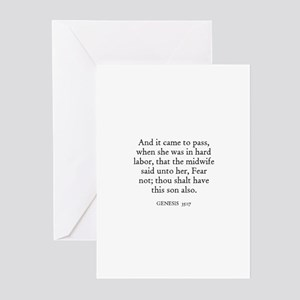 GENESIS  35:17 Greeting Cards (Pk of 10)