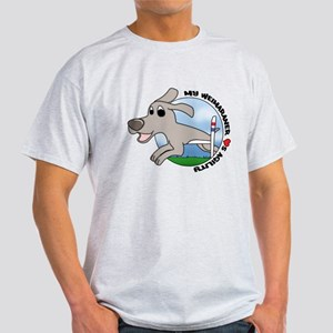 Cartoon Weimaraner Agility Light TShirt