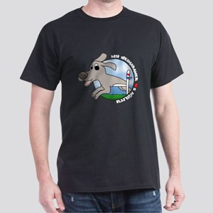 Cartoon Weimaraner Agility Dark T-Shirt