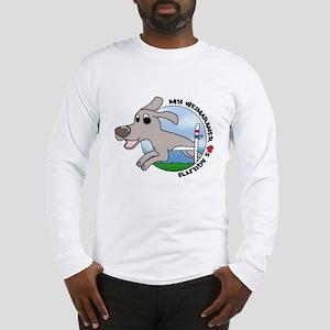 Cartoon Weimaraner Agility Long Sleeve T-Shirt