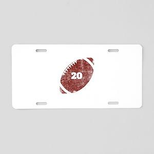 20th Anniversary Football Aluminum License Plate