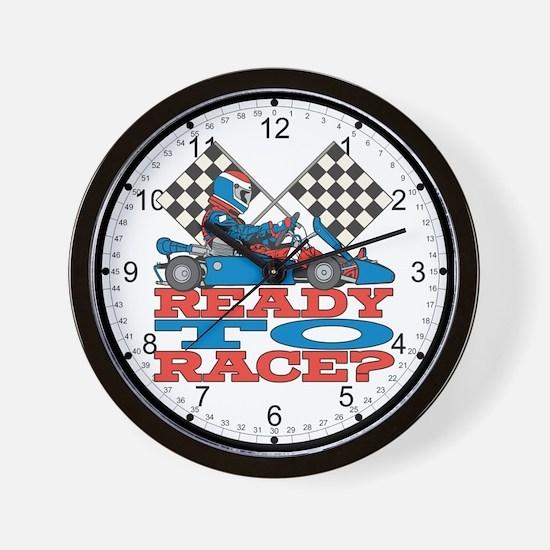 Ready to Race Go Kart Wall Clock