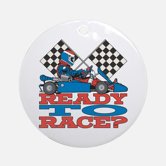 Ready to Race Go Kart Ornament (Round)