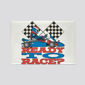 Ready to Race Go Kart Rectangle Magnet (10 pack)