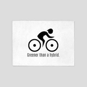 Greener than a hybrid 5'x7'Area Rug