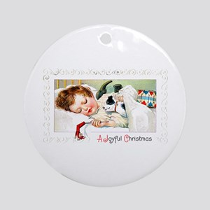 Christmas Gift Dreams Ornament (Round)