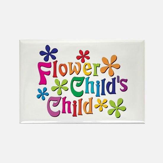 Flower Child's Child Rectangle Magnet