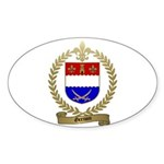 GRENON Family Crest Oval Sticker