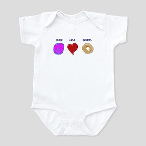 Peace Love & donuts Infant Bodysuit