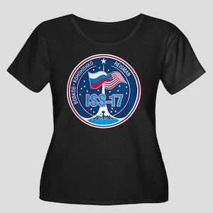 Expediti Women's Plus Size Scoop Neck Dark T-Shirt